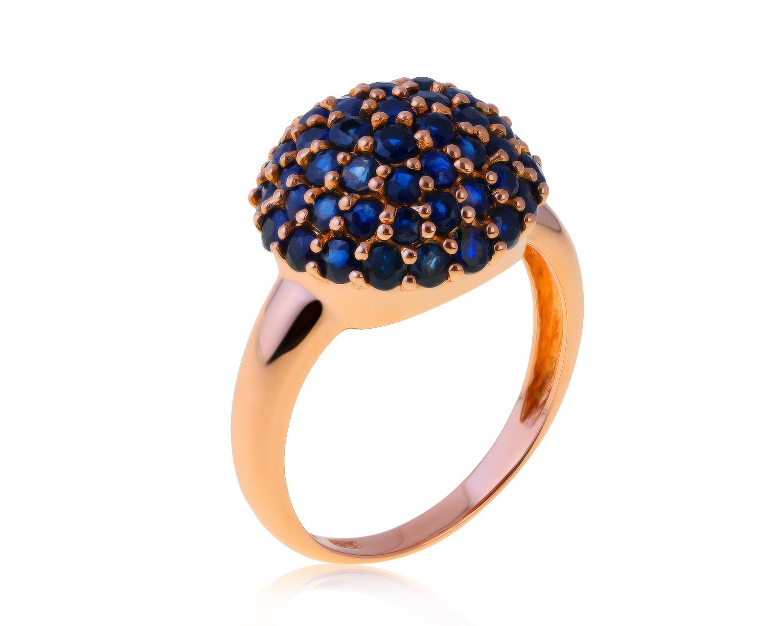 Изысканное золотое кольцо с сапфирами 1.84ct – купить по цене 47 500 ₽ с доставкой в интернет-магазине Mister Diamond