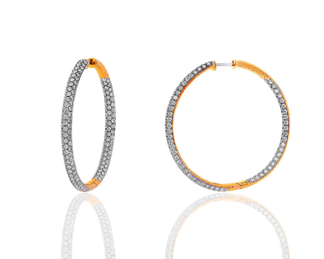 Удивительные золотые серьги с бриллиантами 6 05ct Damas